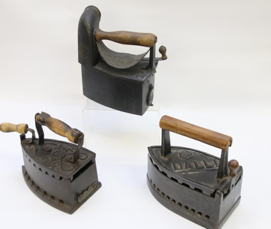 LOT OF CHARCOAL IRONS