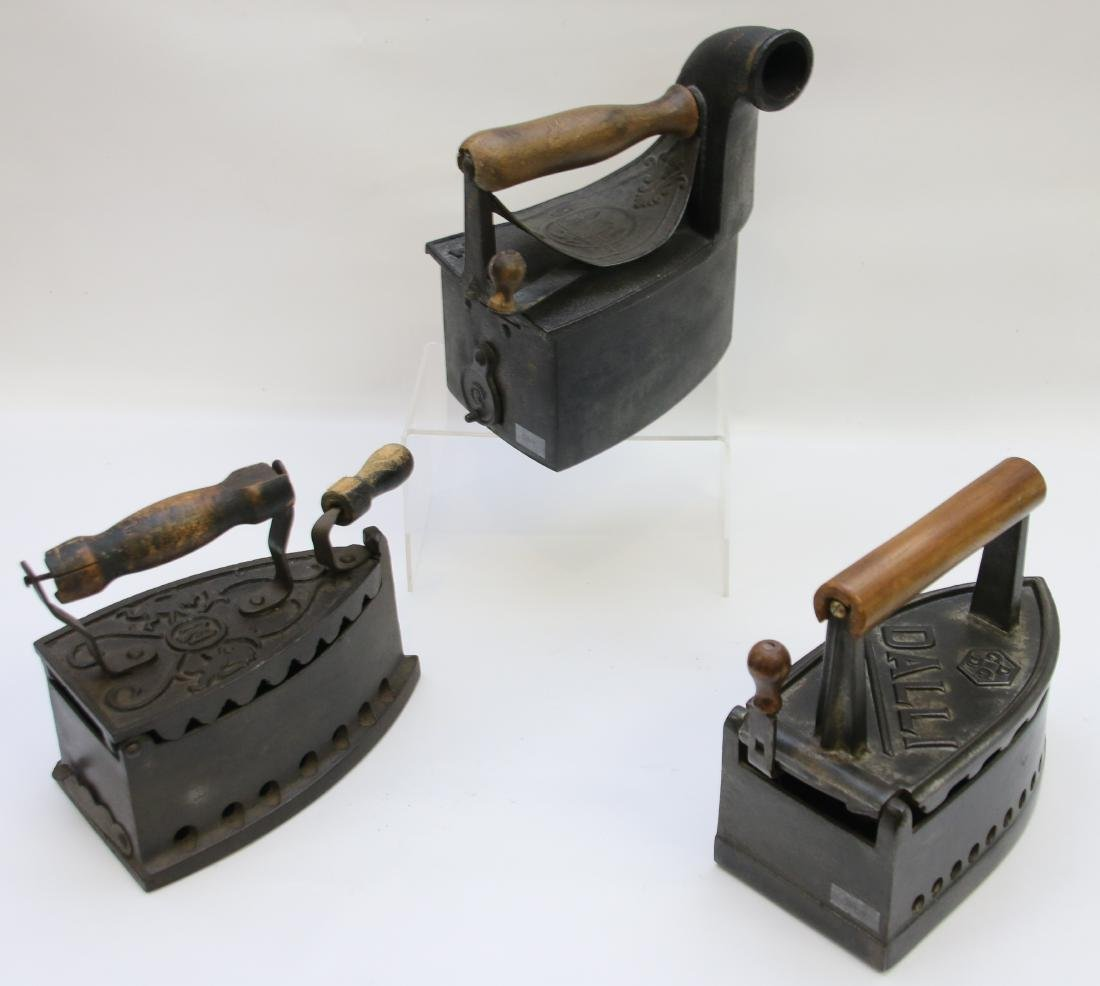 LOT OF CHARCOAL IRONS - 2
