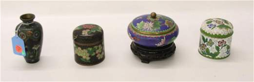 GROUP LOT OF CLOISONNE