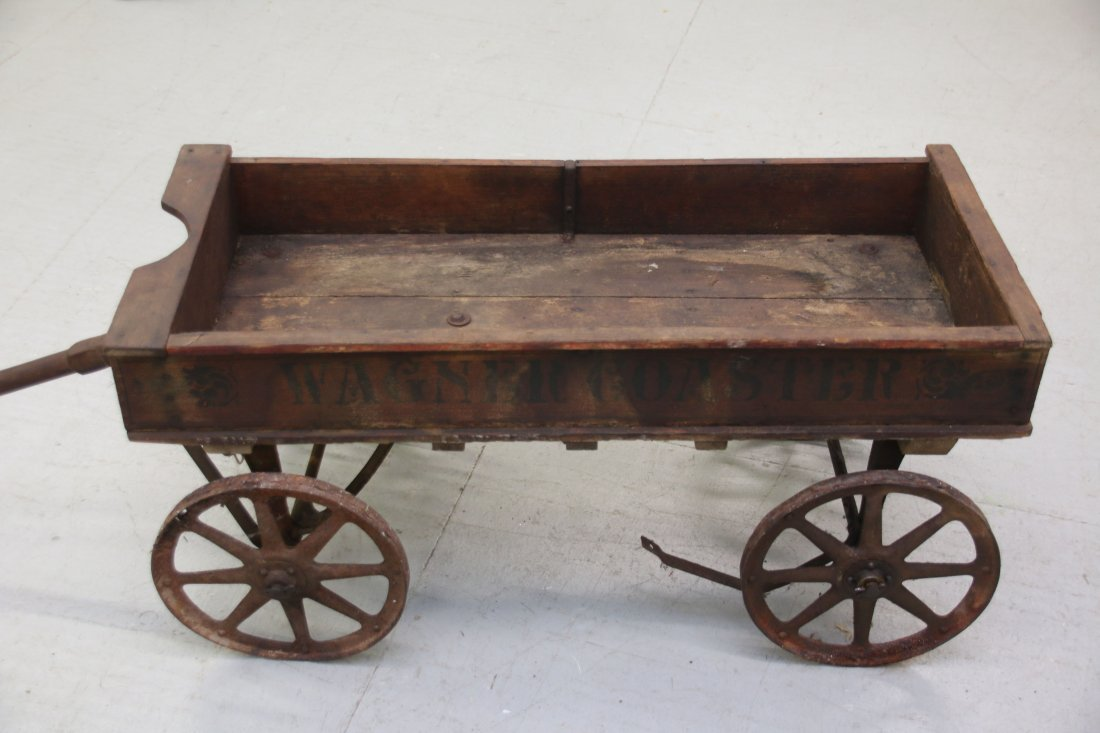 CHILDS WOODEN WAGON - 2