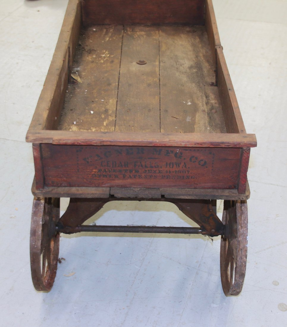 CHILDS WOODEN WAGON - 3