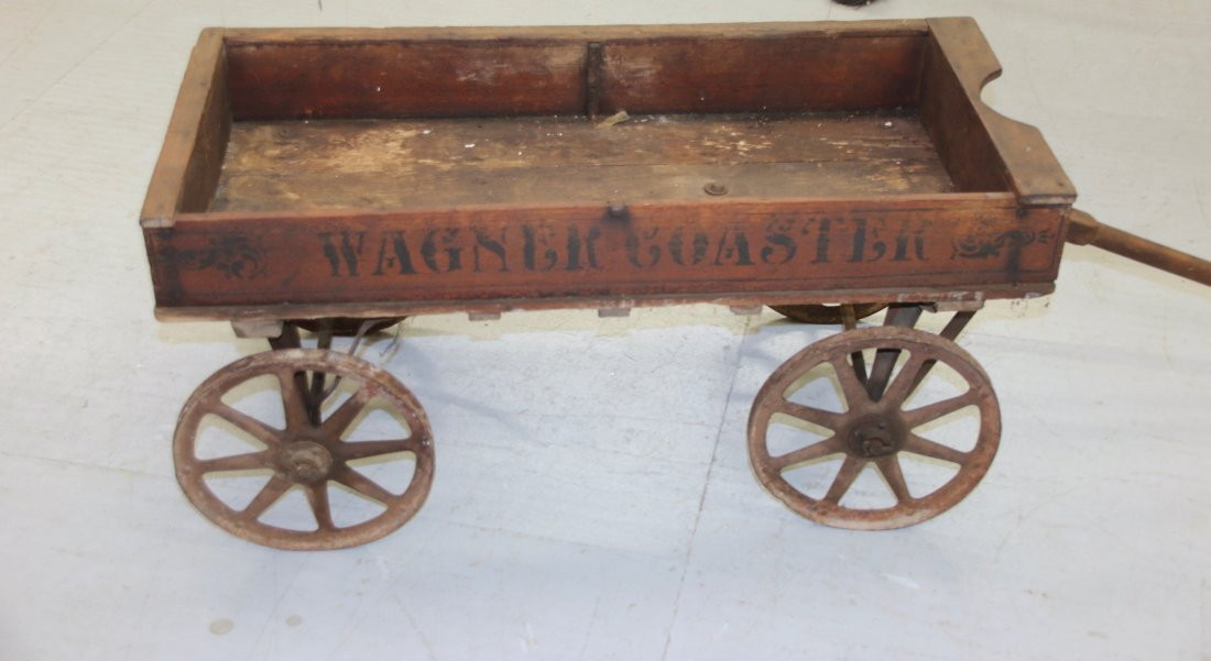CHILDS WOODEN WAGON - 4