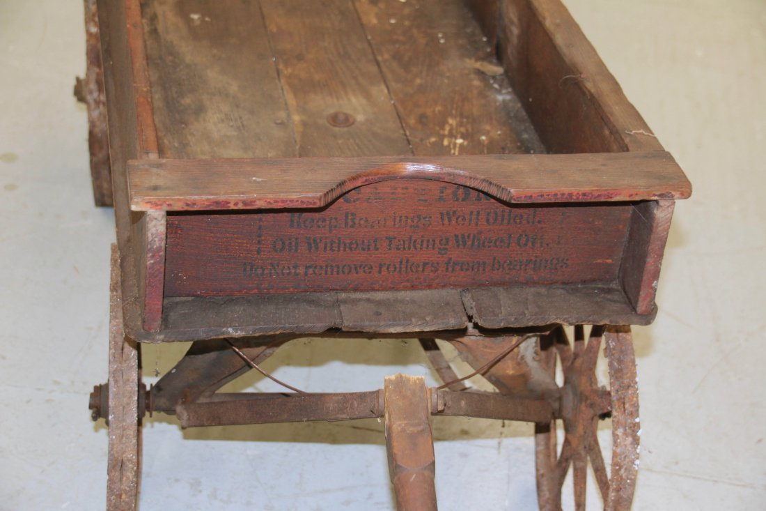CHILDS WOODEN WAGON - 5