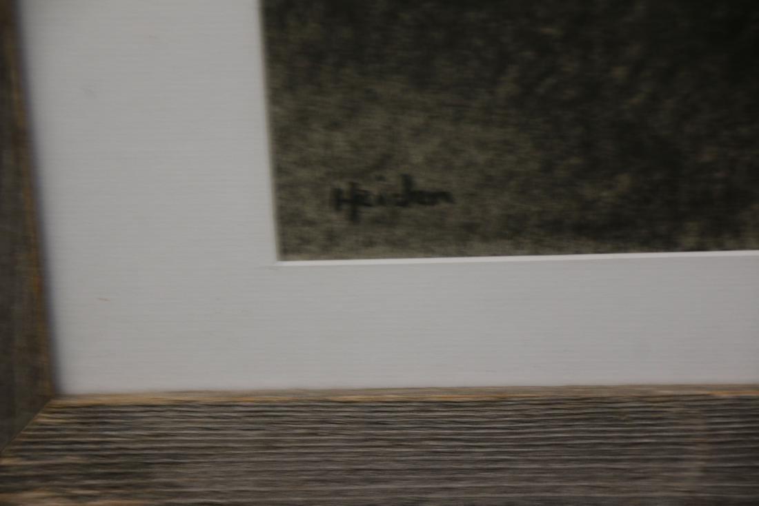 PETER HEIDEN OIL ON BOARD CHARCOAL ON PAPER - 3