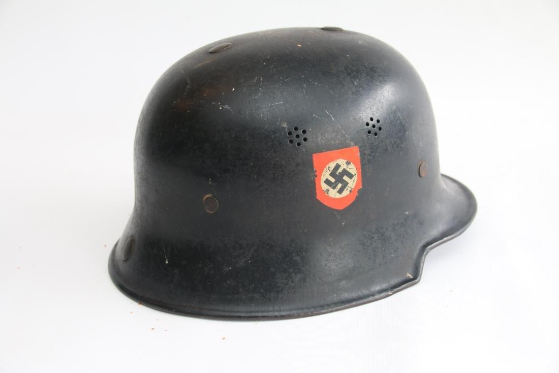GERMAN WWII POLICE HELMET - 2