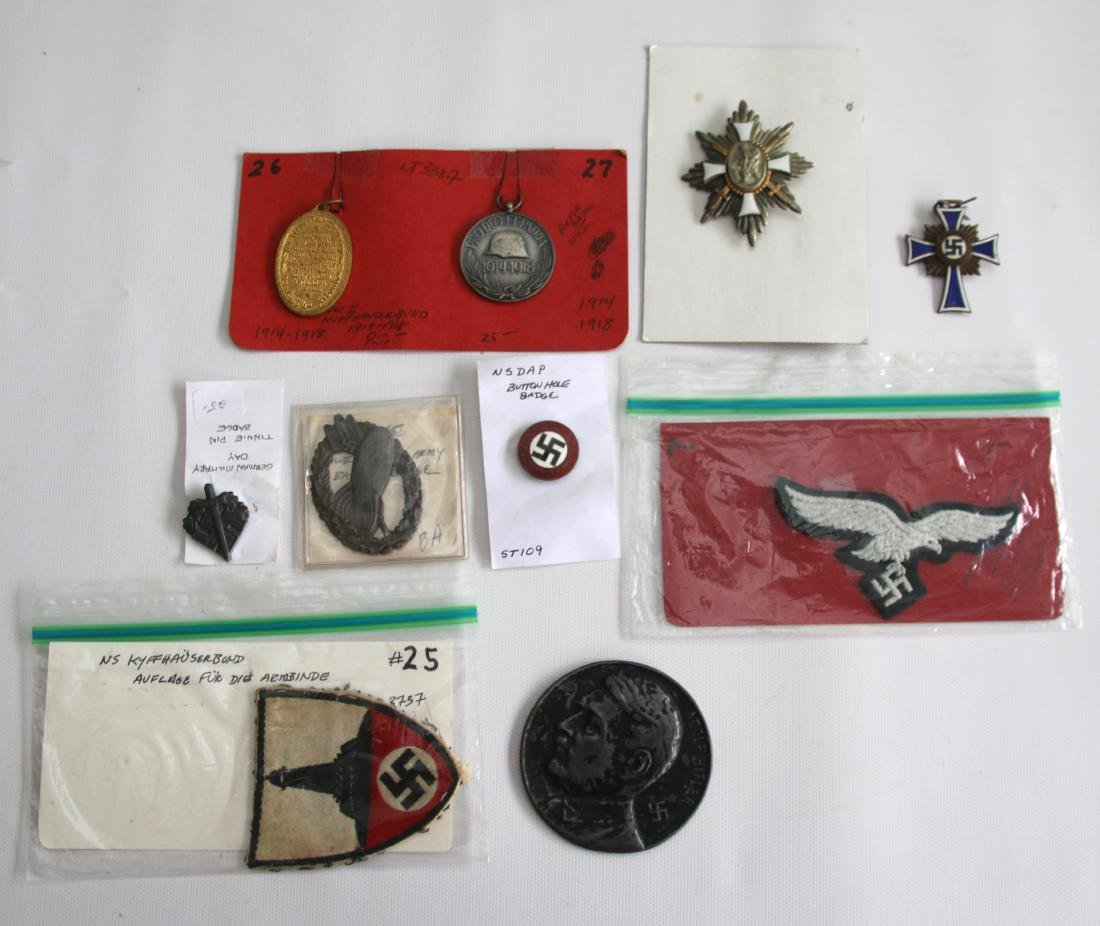 LOT OF GERMAN WWII MEDALS AND PATCHES