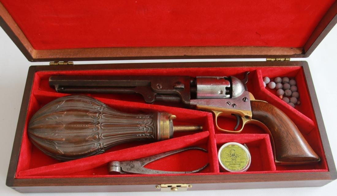 CASED COLT MODEL 1851 NAVY REVOLVER