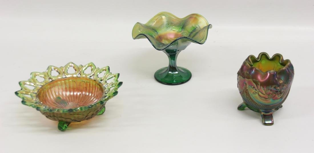 GROUP LOT OF CARNIVAL GLASS