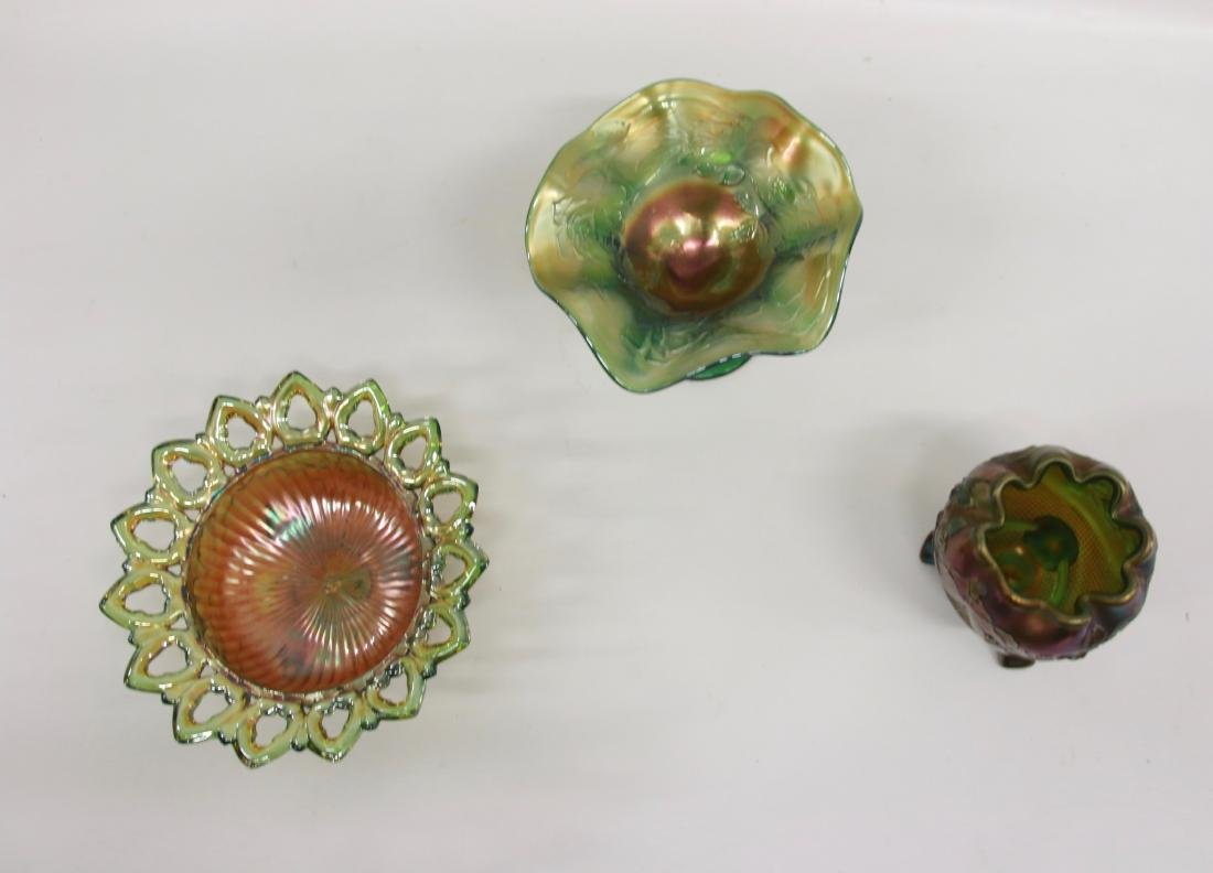 GROUP LOT OF CARNIVAL GLASS - 2
