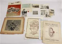 GROUP LOT OF MOTORCYCLE RELATED ITEMS