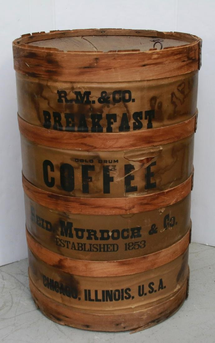 WOODEN COFFEE BARREL