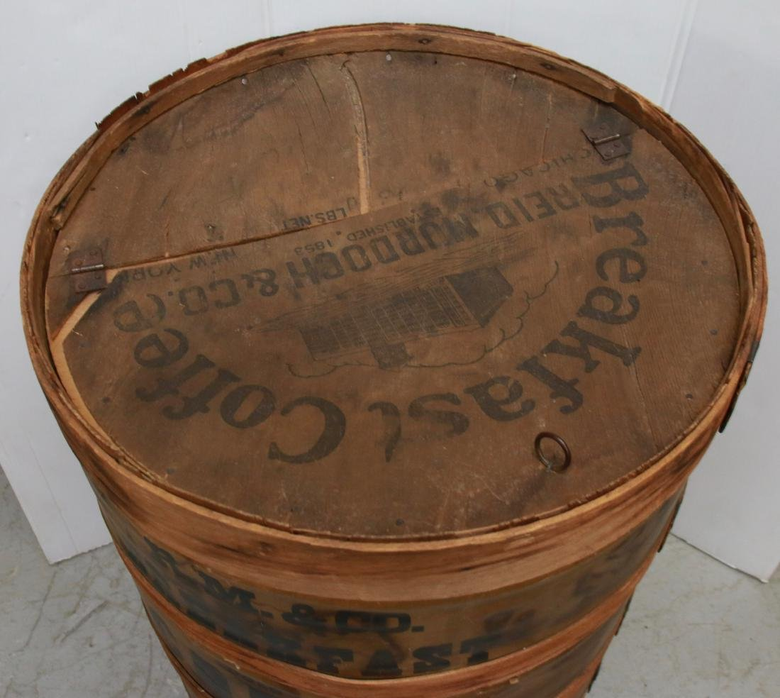 WOODEN COFFEE BARREL - 2