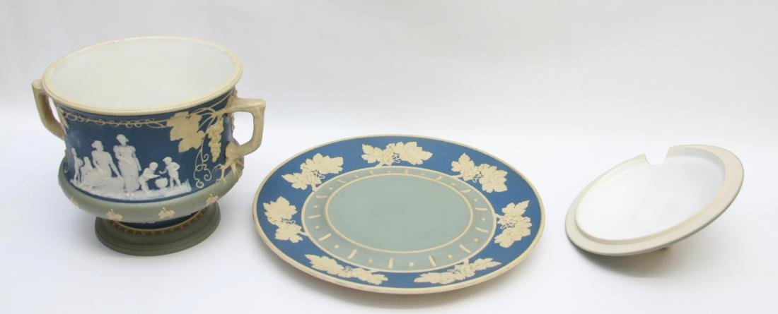 METTLACH PUNCH BOWL AND TRAY - 2