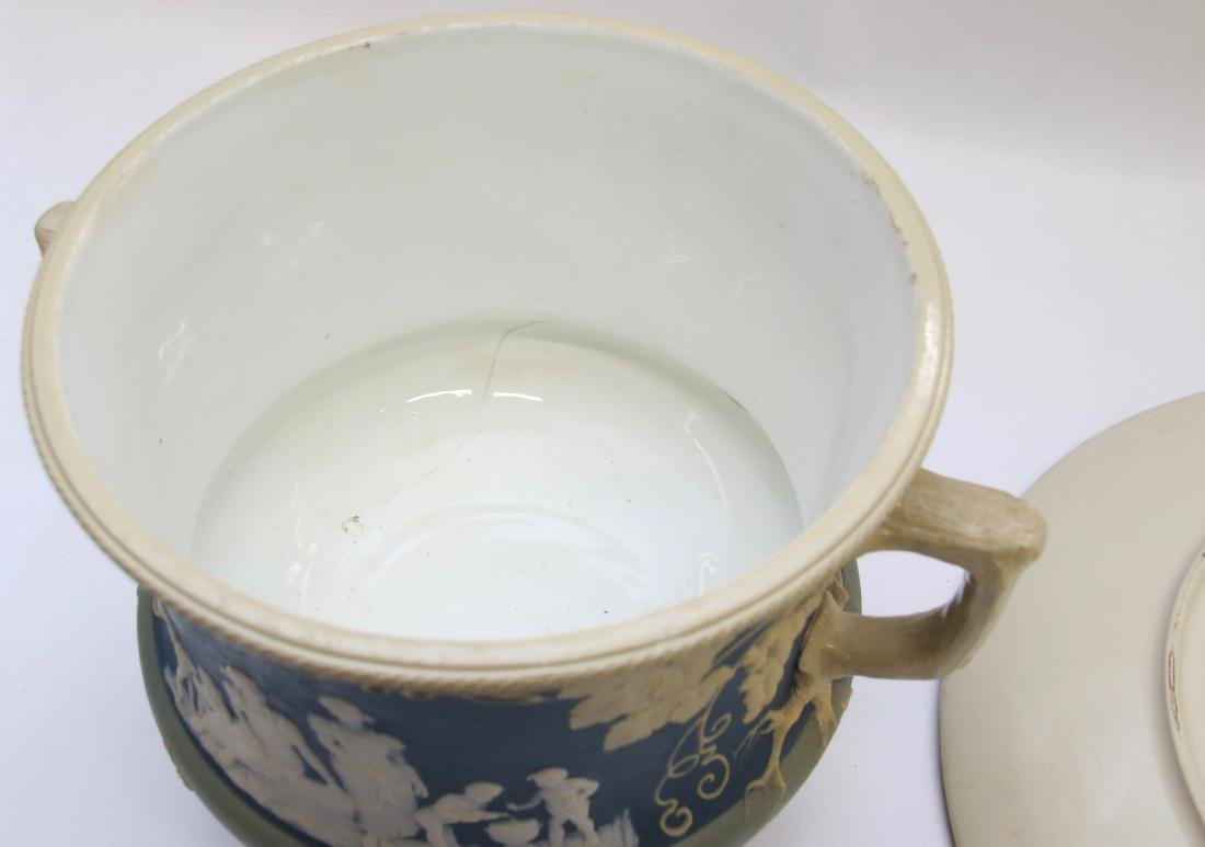 METTLACH PUNCH BOWL AND TRAY - 5