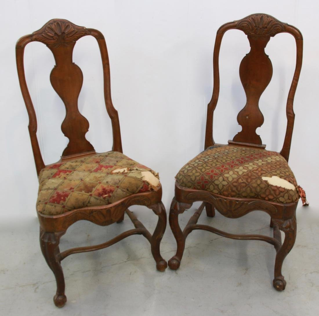 PR. OF QUEEN ANNE SIDE CHAIRS