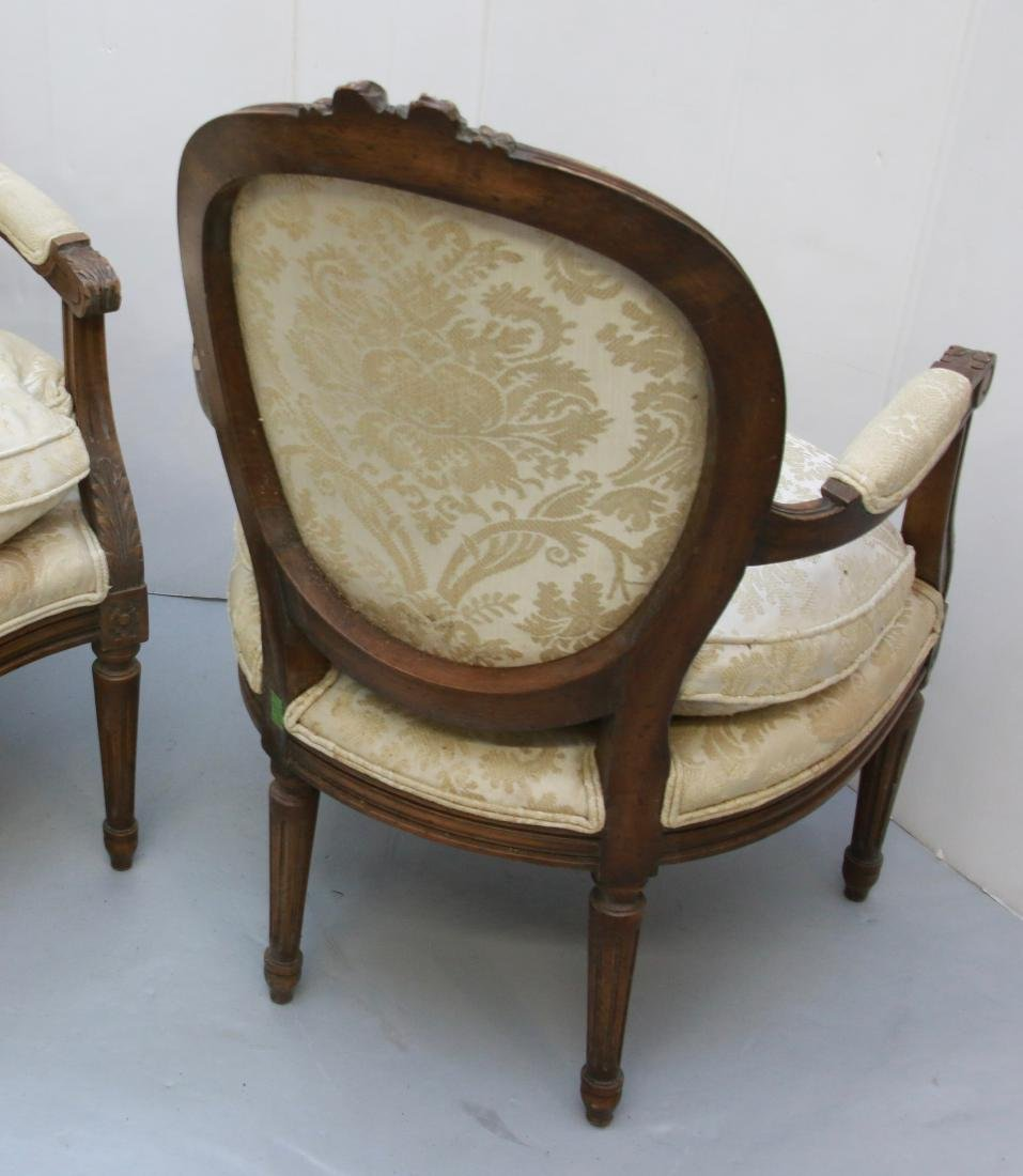 PR. OF FRENCH ARM CHAIRS - 4