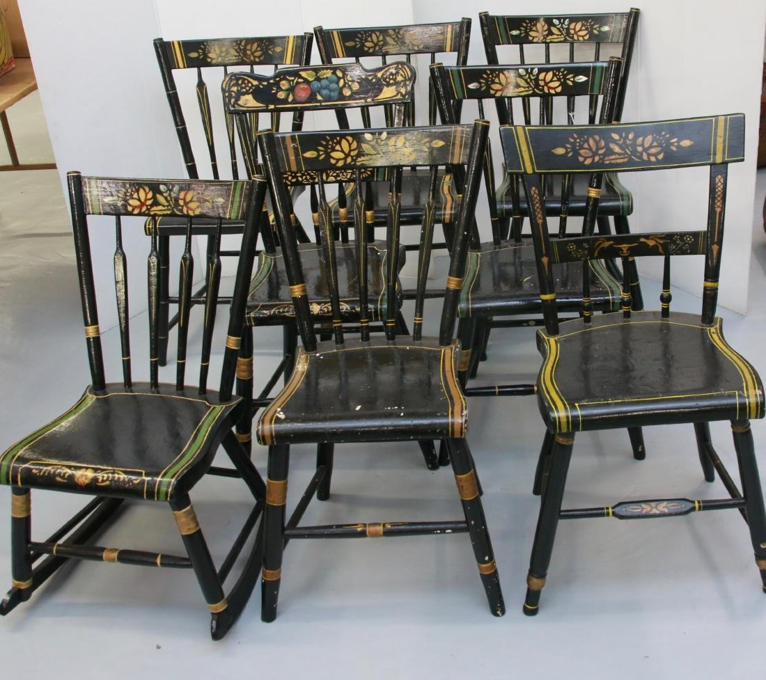 SET OF ANTIQUE ARROWBACK CHAIRS