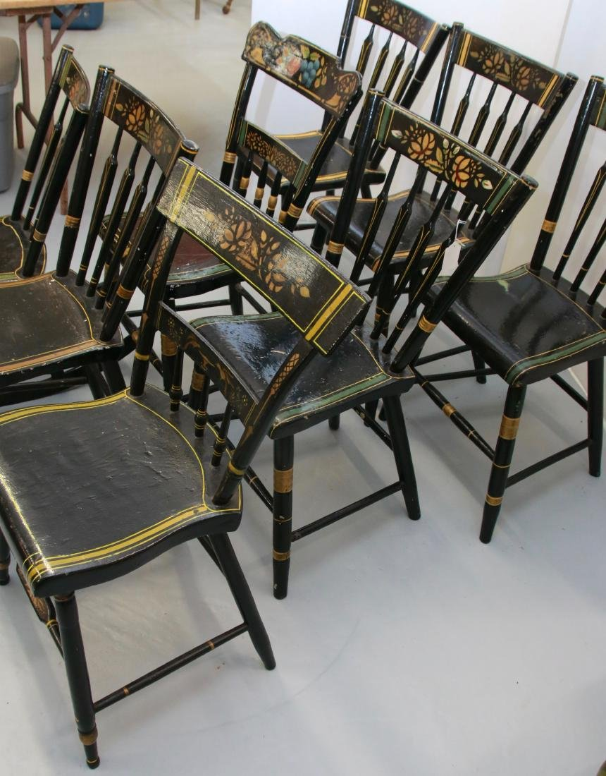 SET OF ANTIQUE ARROWBACK CHAIRS - 2