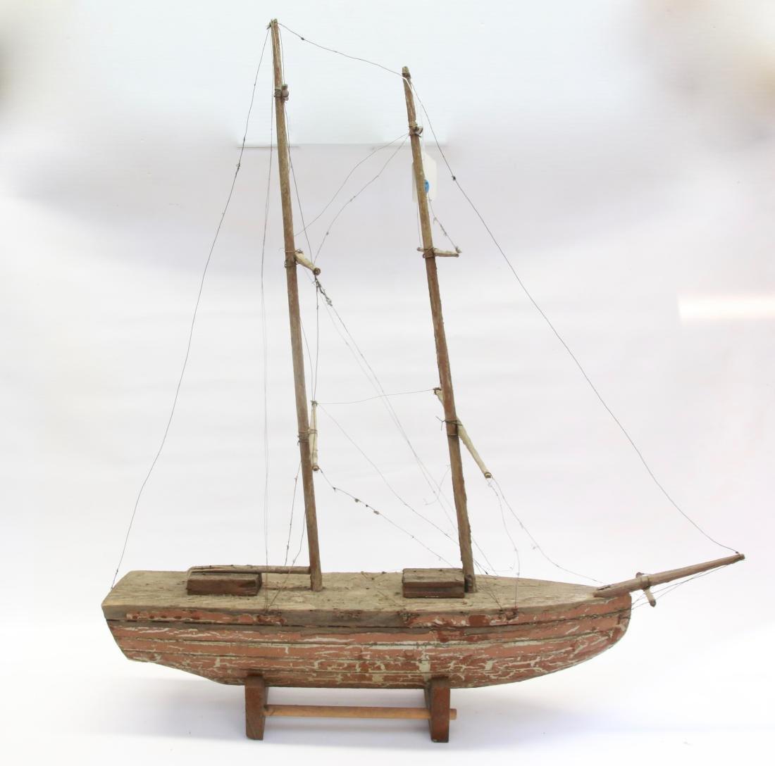 Vintage Wooden Model Ship