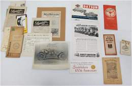 GROUP LOT OF AUTOMOBILE PAPER GOODS