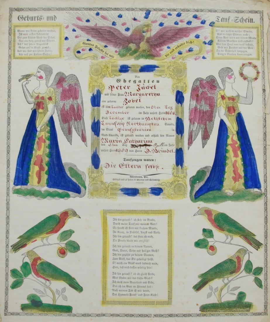 19TH CENTURY PRINTED FRAKTUR
