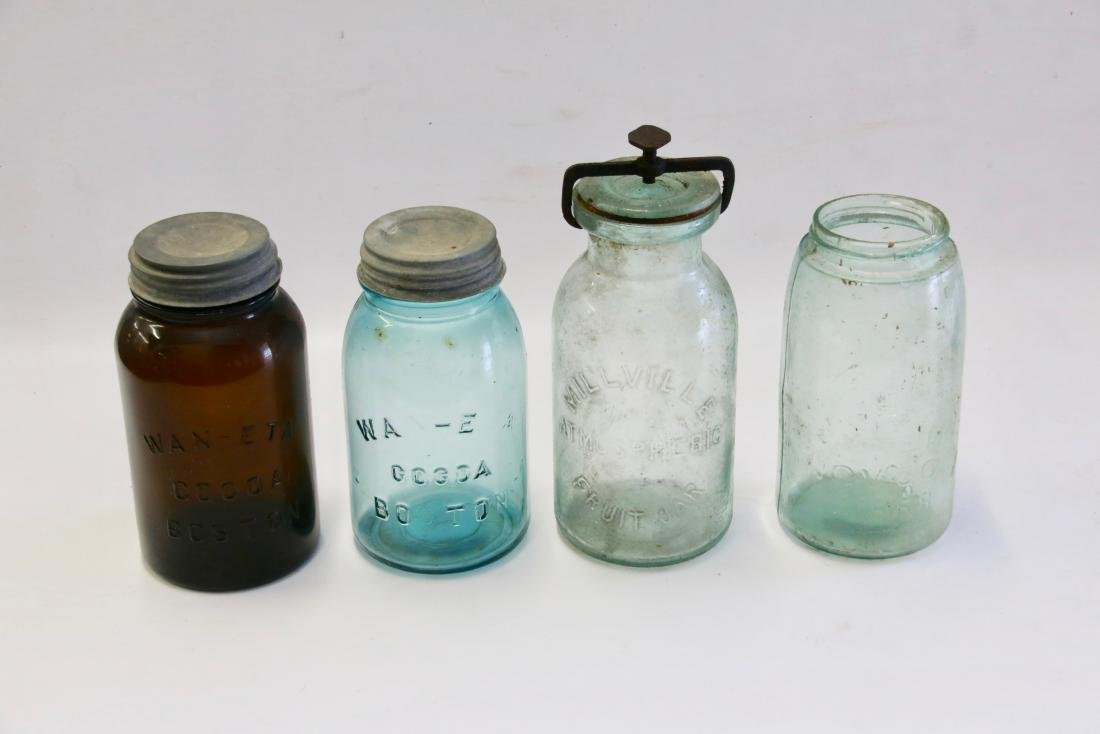 GLASS STORAGE JAR LOT