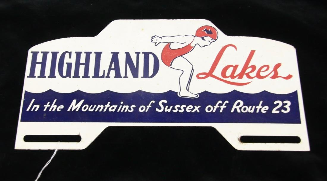 HIGHLAND LAKES LICENSE PLATE TOPPER