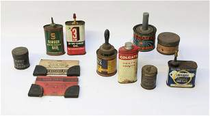 VINTAGE ADVERTISING TIN LOT