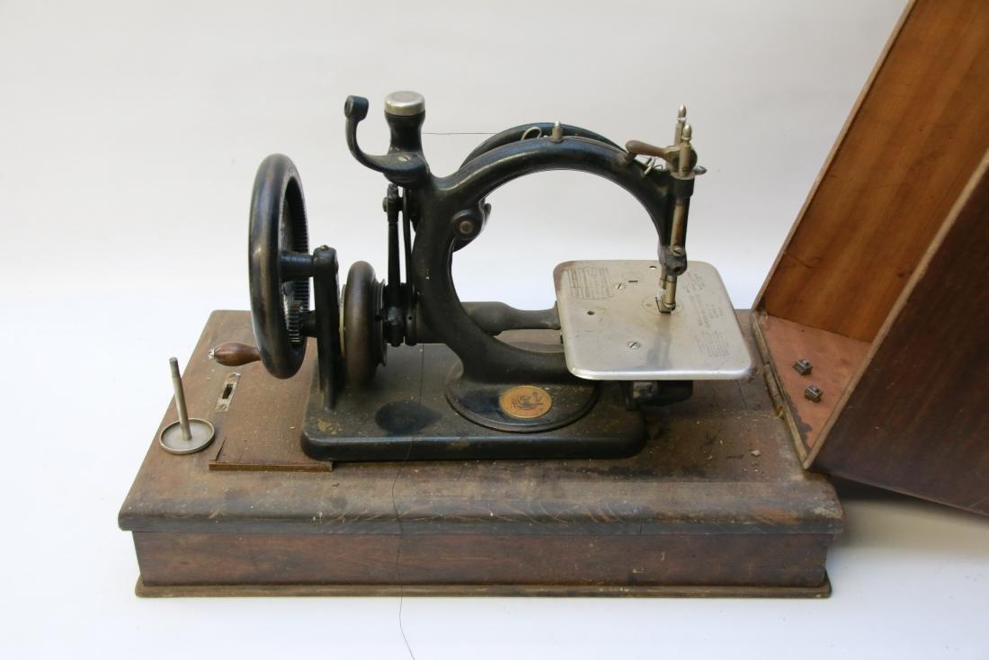 OAK CASED SEWING MACHINE