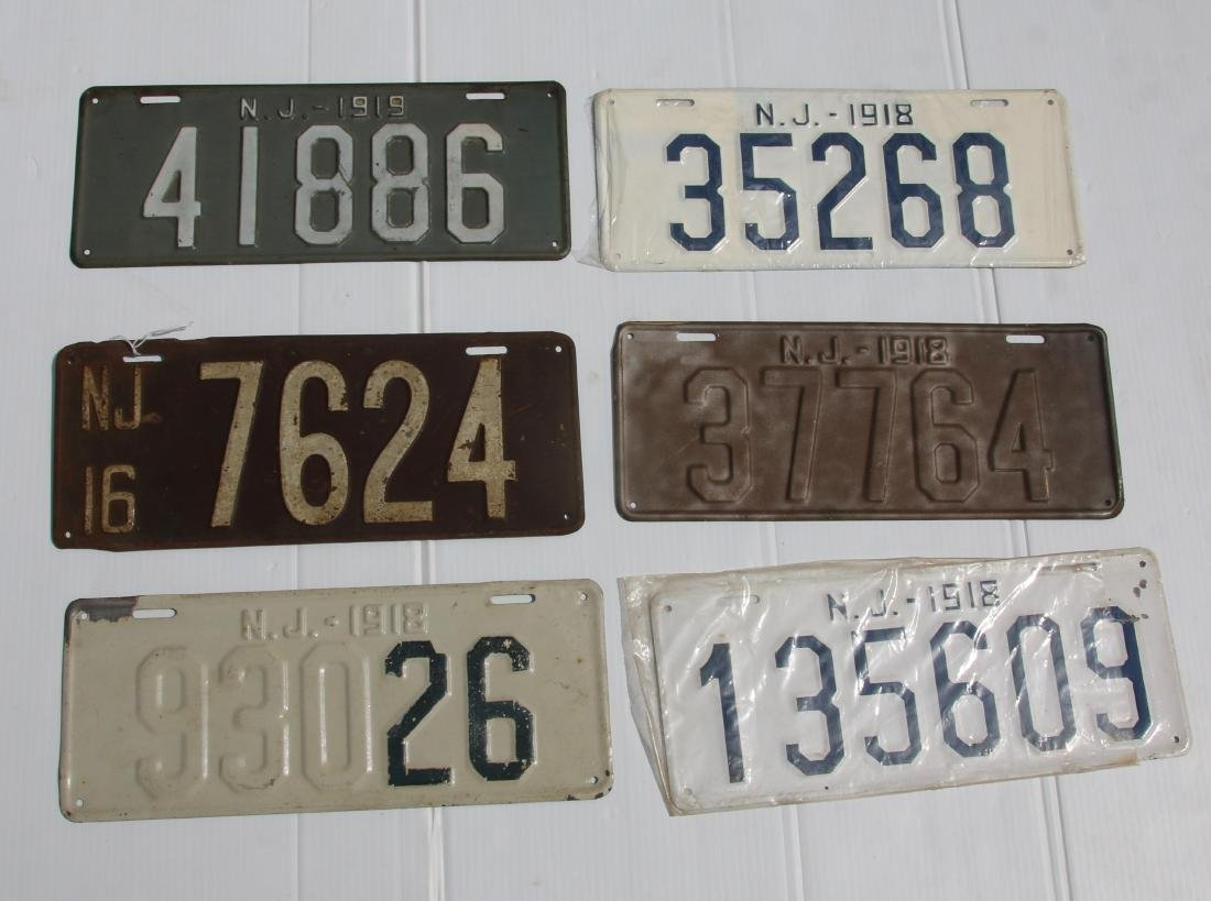 NEW JERSEY LICENSE PLATE LOT