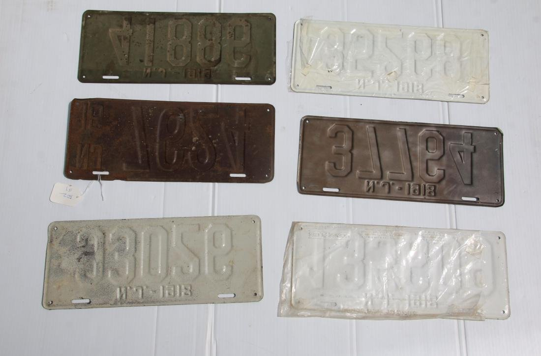 NEW JERSEY LICENSE PLATE LOT - 2