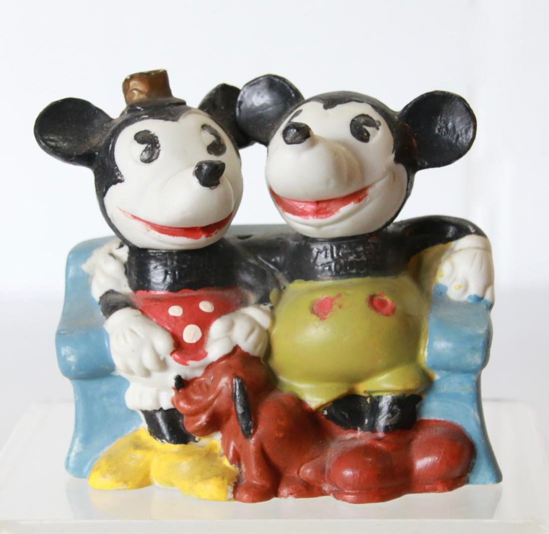 VINTAGE MICKEY AND MINNIE MOUSE TOOTHBRUSH HOLDER