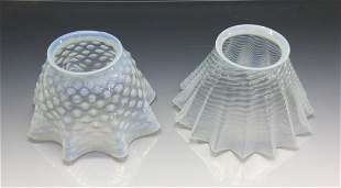 PAIR OF OPALESCENT LIGHT SHADES