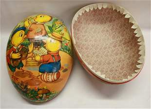 LARGE EASTER EGG CANDY CONTAINER