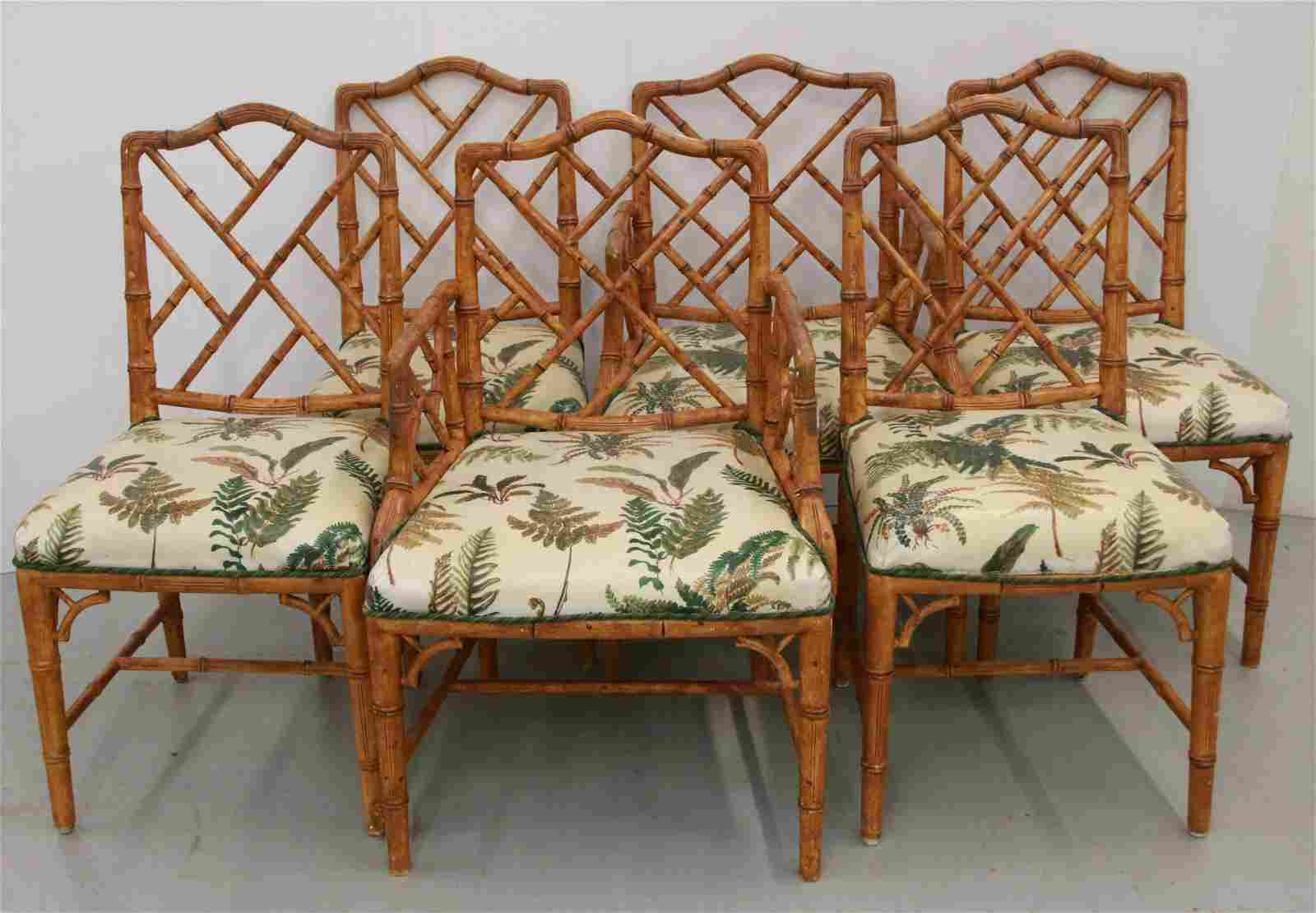 FAUX BAMBOO CHAIR SET