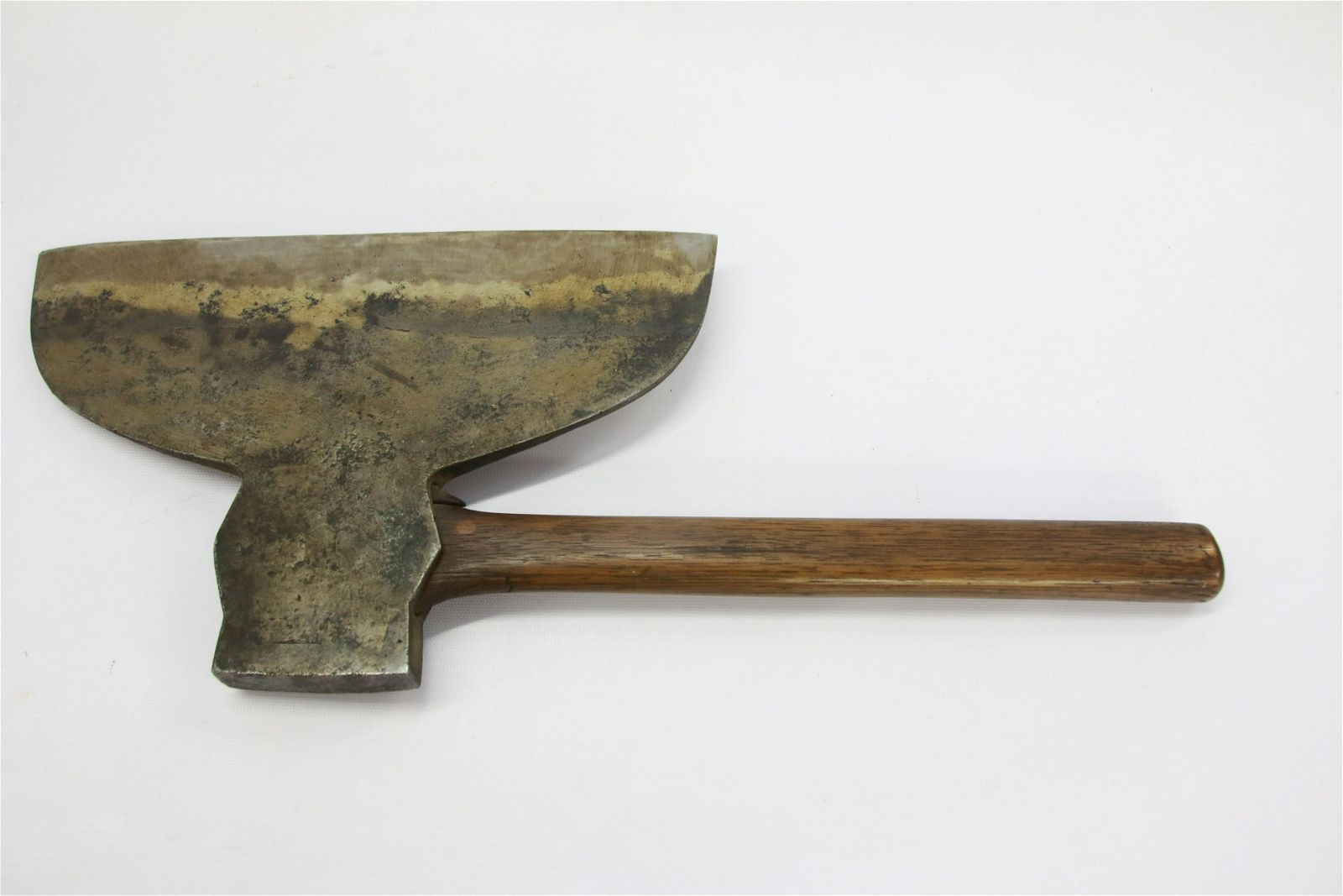BROAD AXE WITH WOODEN HANDLE