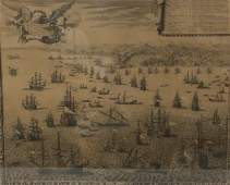 FRENCH ENGRAVING OF NAVAL SHIPS
