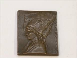 FRENCH BRONZE MEDAL OR PLAQUETTE