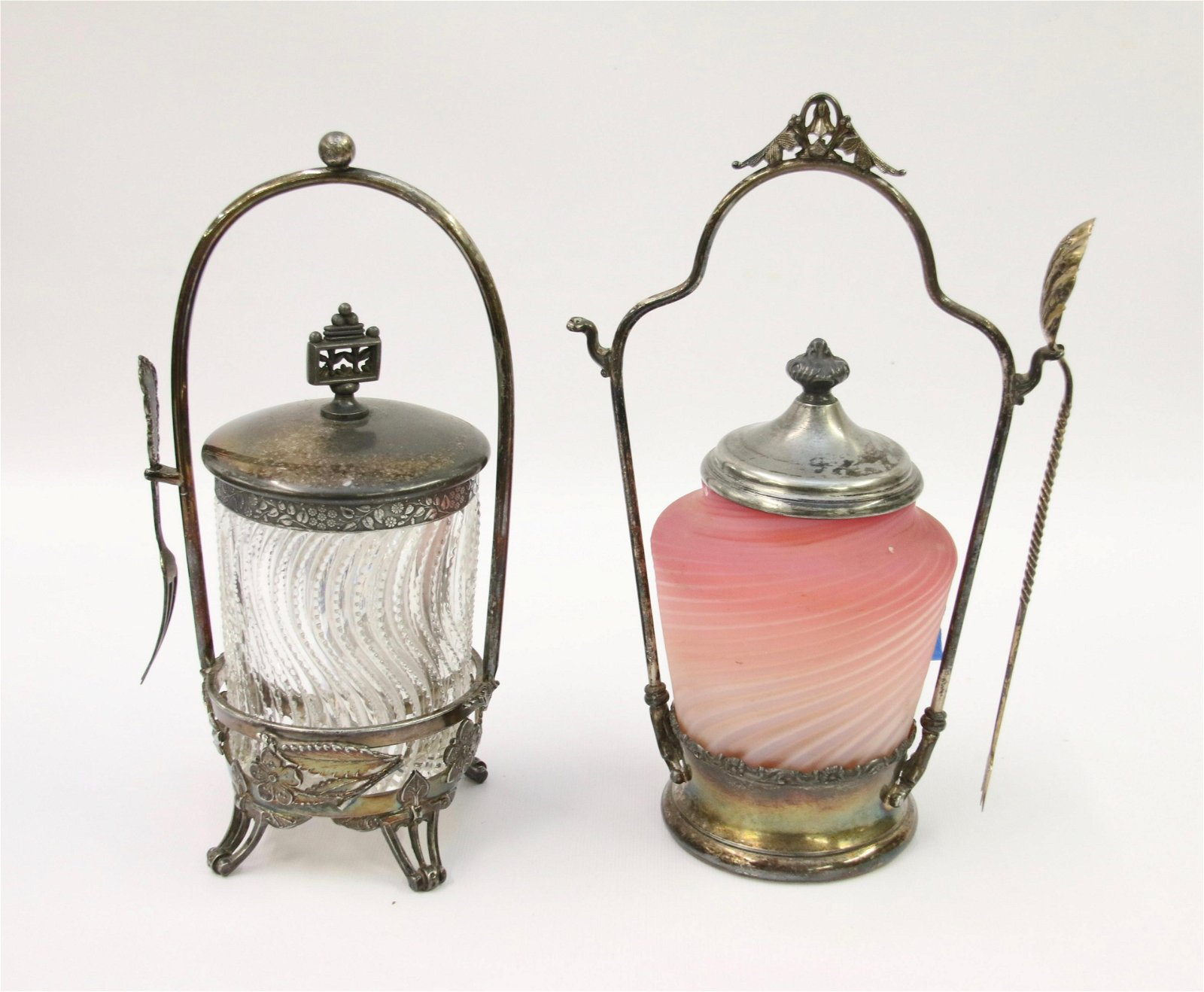 PAIR OF VICTORIAN PICKLE CASTERS