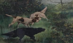 VINTAGE DOG PRINT