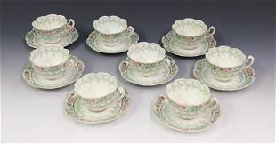 PORCELAIN CUP AND SAUCER LOT