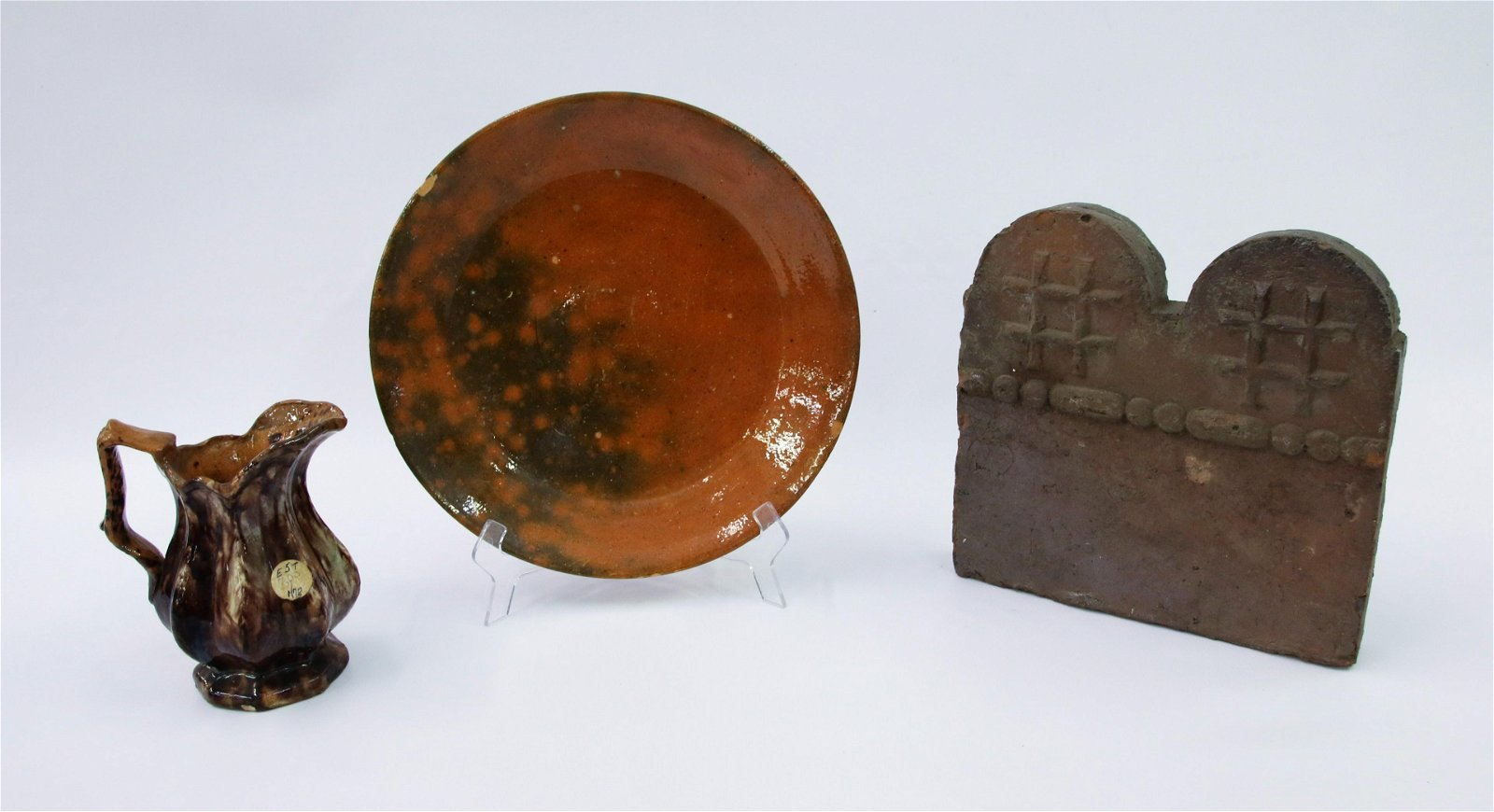 REDWARE POTTERY LOT