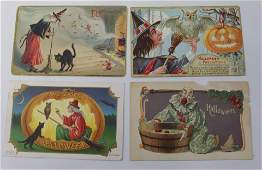 GROUP LOT OF VINTAGE HALLOWEEN POSTCARDS