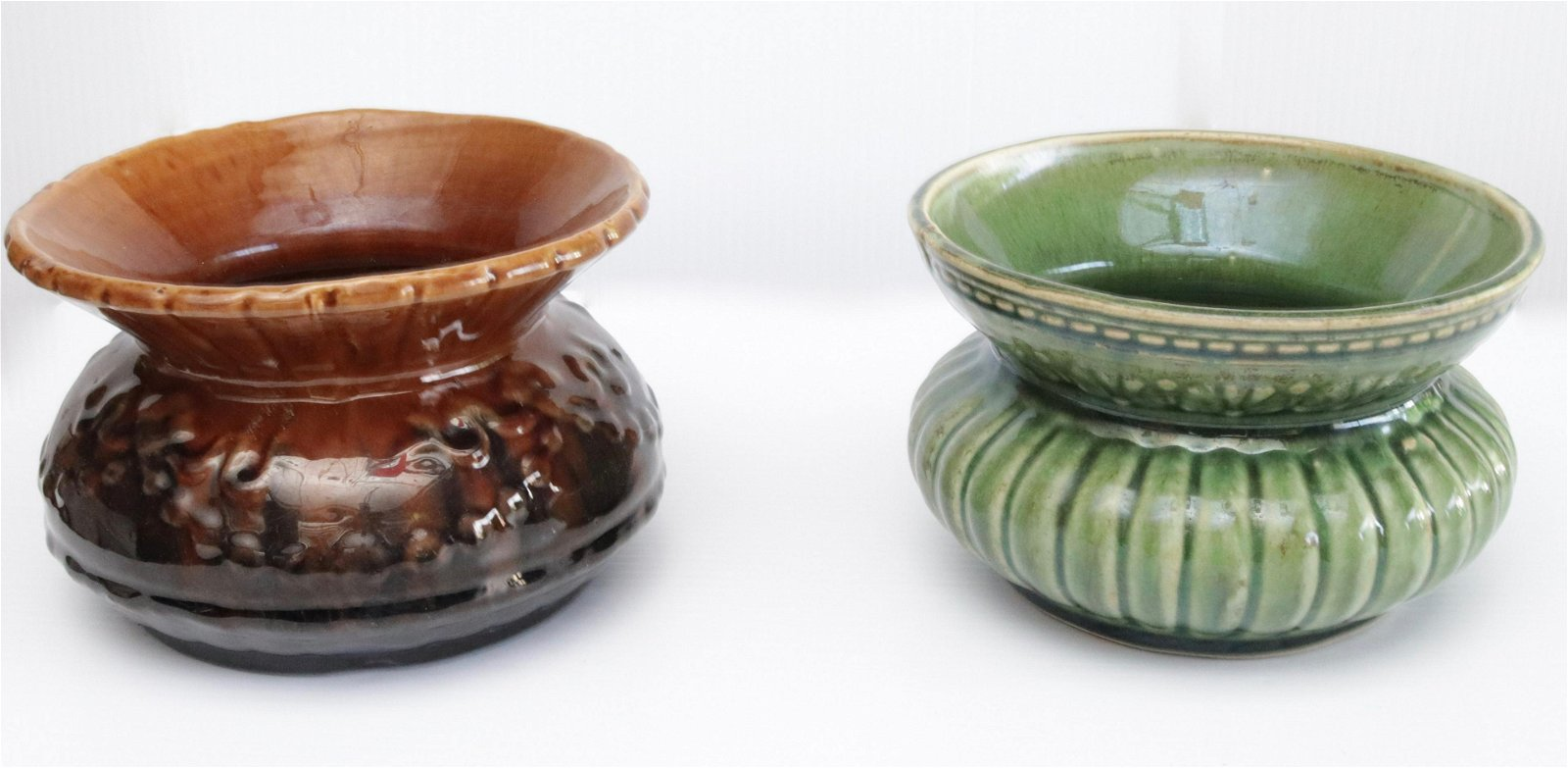 PR. OF POTTERY SPITTOONS