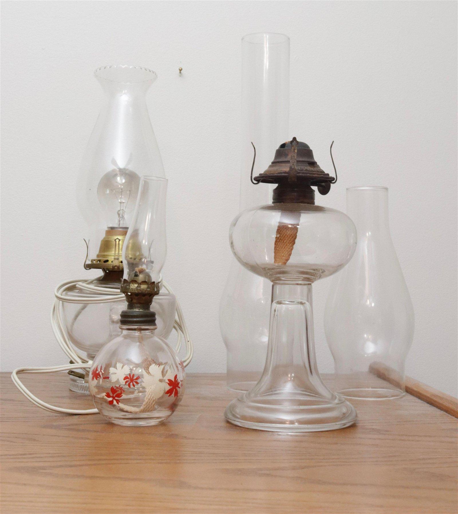 GROUP LOT OF KEROSENE LAMPS