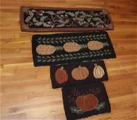 GROUP OF MODERN HOOKED RUGS