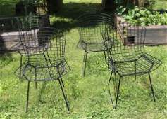 SET OF 4 BERTOIA CHAIRS