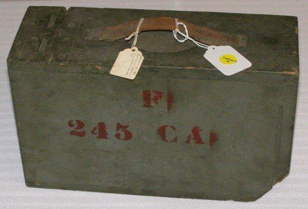 1039: BROWNING MACHINE GUN AMMO BOX CIRCA 1917 .30 CAL