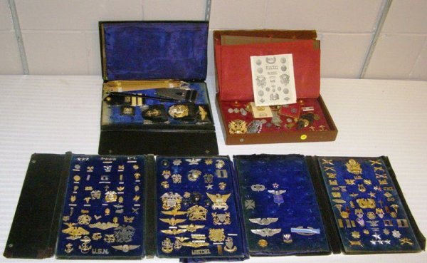 1047: (6) CASES OF AMERICA'S FINEST MILITARY INSIGNIAS