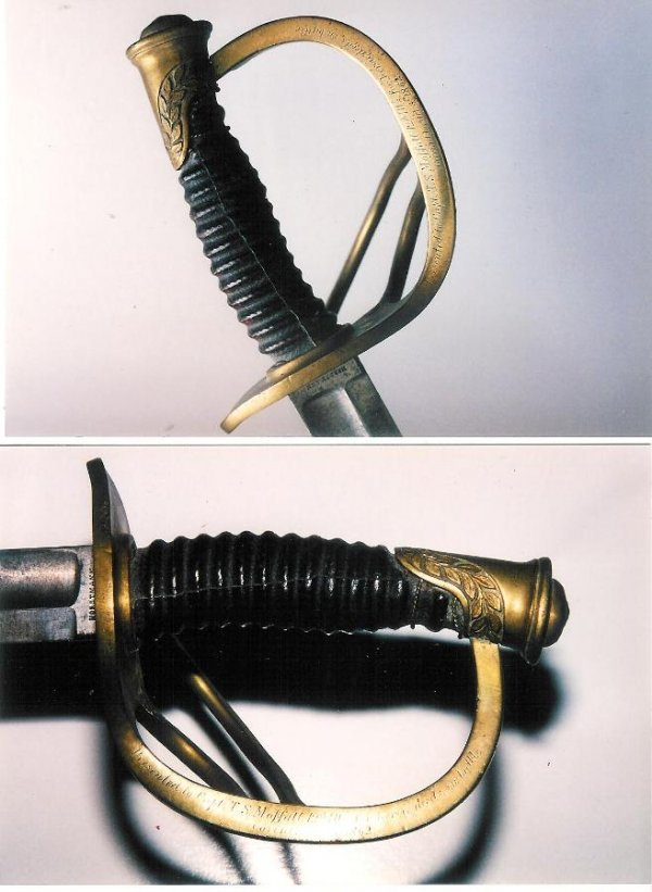 1424: PresentatioU.S. 1860 LIGHT OFFICERS CALVARY SABER